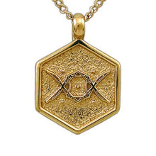 Load image into Gallery viewer, Gold Aon Ehe Pendant - Badali Jewelry - Necklace