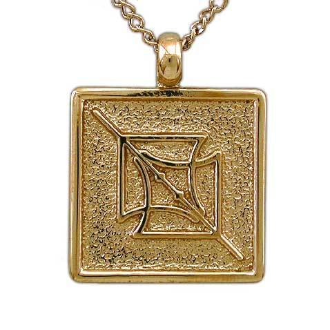 Gold Aon Eon Pendant - Badali Jewelry - Necklace