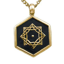 Load image into Gallery viewer, Gold Aon Omi Pendant - Badali Jewelry - Necklace