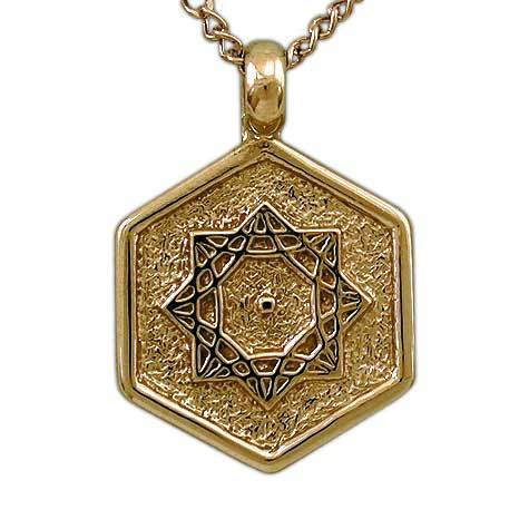 Gold Aon Omi Pendant - Badali Jewelry - Necklace