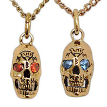 Load image into Gallery viewer, Gold Bob The Skull - Badali Jewelry - Necklace