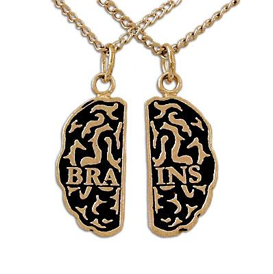 Gold Brains Friendship Necklaces - Badali Jewelry - Necklace