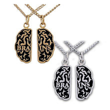 Load image into Gallery viewer, Gold Brains Friendship Necklaces - Badali Jewelry - Necklace