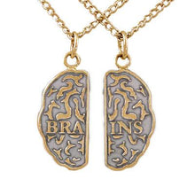 Load image into Gallery viewer, Gold Brains Friendship Necklaces - Enameled - Badali Jewelry - Necklace