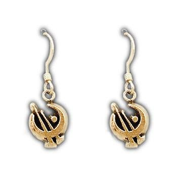 Gold Bronze Allomancer Earrings - Badali Jewelry - Earrings