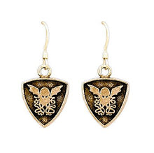 Load image into Gallery viewer, Gold Cthulhu Crest Earrings - Badali Jewelry - Earrings