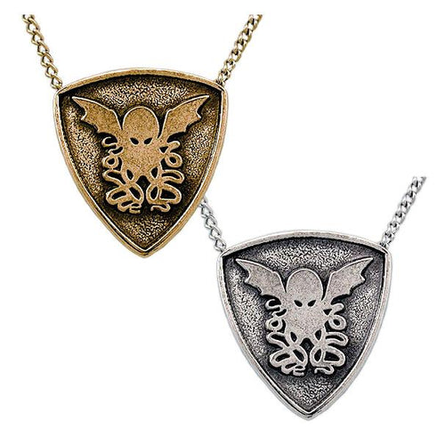 Gold Cthulhu Crest Necklace - Badali Jewelry - Necklace