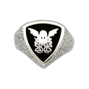 Gold Cthulhu Crest Ring - Badali Jewelry - Ring
