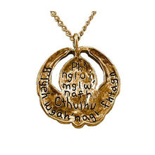 Load image into Gallery viewer, Gold Cthulhu Medallion - Badali Jewelry - Necklace