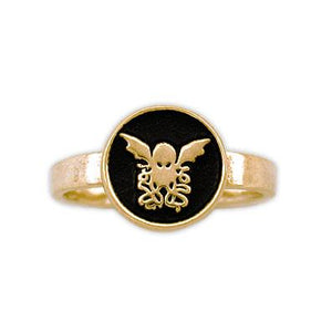 Gold Cthulhu Signet Ring - Badali Jewelry - Ring