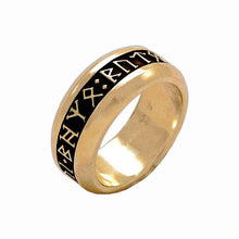 Load image into Gallery viewer, Gold Custom CIRTH Dwarven Rune Ring - Badali Jewelry - Ring
