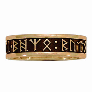 Gold Custom CIRTH Dwarven Rune Ring - Channel Band - Badali Jewelry - Ring