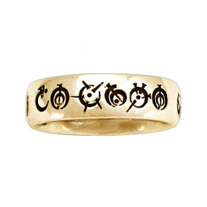 Gold Custom Steel Alphabet Ring - Badali Jewelry - Ring