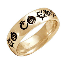 Load image into Gallery viewer, Gold Custom Steel Alphabet Ring - Badali Jewelry - Ring