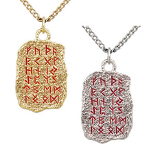 Load image into Gallery viewer, Gold Elder Futhark Rune Alphabet Necklace - Badali Jewelry - Necklace