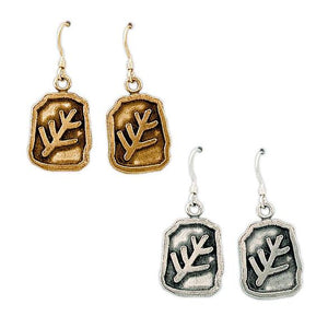 Gold Elder Sign Earrings - Badali Jewelry - Earrings