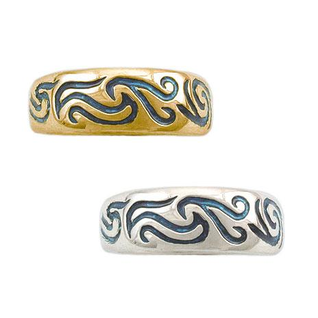 Gold Elven Air Band - Large/Gents - Badali Jewelry - Ring