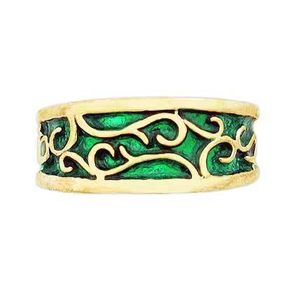 Gold Elven Earth Band - Large/Gents - Badali Jewelry - Ring