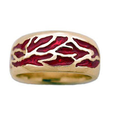 Load image into Gallery viewer, Gold Elven Fire Band - Large/Gents - Badali Jewelry - Ring