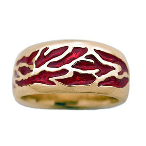 Gold Elven Fire Band - Large/Gents - Badali Jewelry - Ring