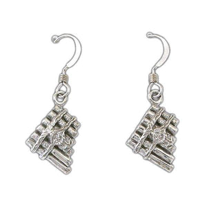 Gold Eolian Talent Pipe Earrings - Badali Jewelry - Earrings