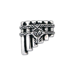 Gold Eolian Talent Pipes Pin, Brooch Style - Badali Jewelry - Pin