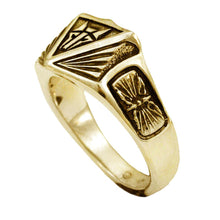 Load image into Gallery viewer, Gold Institute Ring for House Mars - Badali Jewelry - Ring
