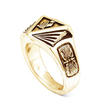 Load image into Gallery viewer, Gold Institute Ring for House Minerva - Badali Jewelry - Ring