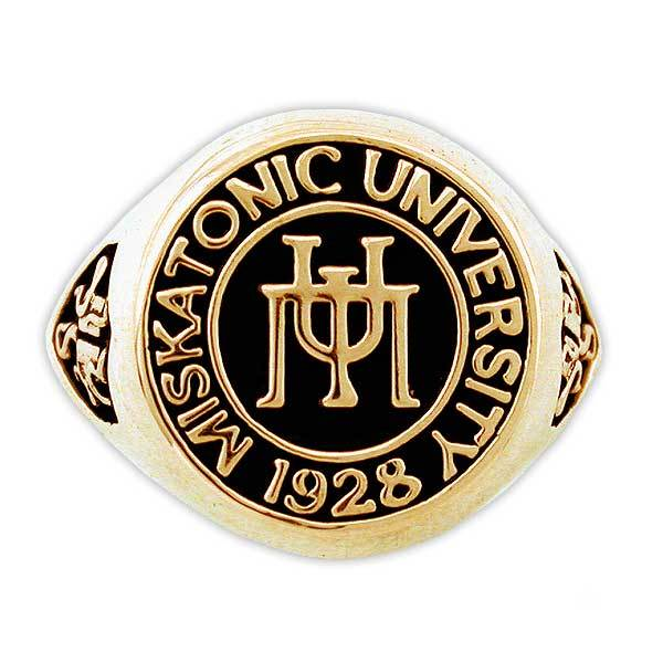 Gold Miskatonic University Class Ring - Badali Jewelry - Ring
