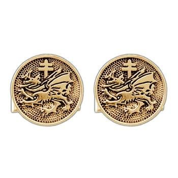 Gold Order of the Dragon Cufflinks - Badali Jewelry -