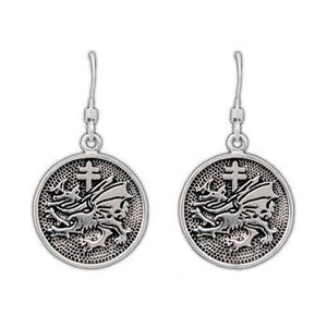 Gold Order of the Dragon Earrings - Badali Jewelry - Earrings