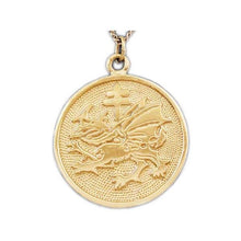 Load image into Gallery viewer, Gold Order of the Dragon Pendant - Badali Jewelry - Necklace