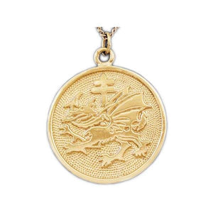 Gold Order of the Dragon Pendant - Badali Jewelry - Necklace