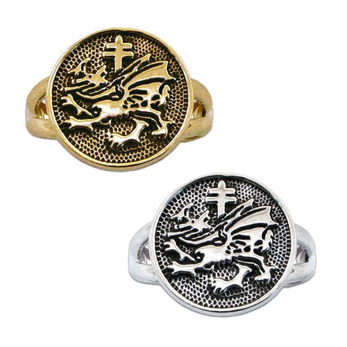 Gold Order of the Dragon Sigil Ring - Badali Jewelry - Ring