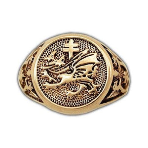 Gold Order of The Dragon Signet Ring - Badali Jewelry - Ring