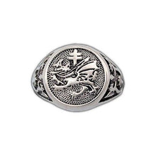 Load image into Gallery viewer, Gold Order of The Dragon Signet Ring - Badali Jewelry - Ring