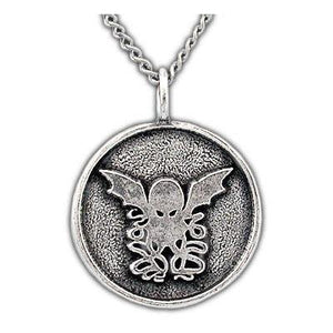 Gold Round Cthulhu Necklace - Badali Jewelry - Necklace