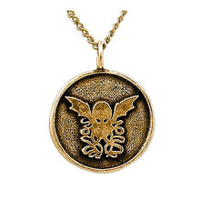 Load image into Gallery viewer, Gold Round Cthulhu Necklace - Badali Jewelry - Necklace