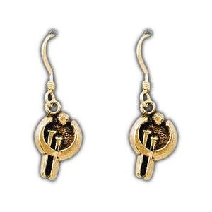 Gold Zinc Allomancer Earrings - Badali Jewelry - Earrings
