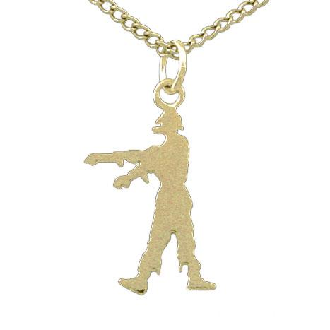 Gold Zombie Silhouette Necklace - Badali Jewelry - Necklace
