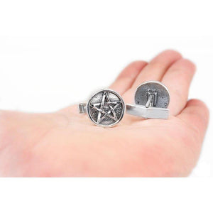 Harry Dresden's Pentacle Cufflinks - Badali Jewelry - Cufflinks