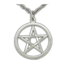 Load image into Gallery viewer, Harry Dresden's Pentacle Necklace - White Bronze - Badali Jewelry - Necklace