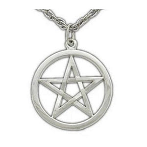 Harry Dresden's Pentacle Necklace - White Bronze - Badali Jewelry - Necklace