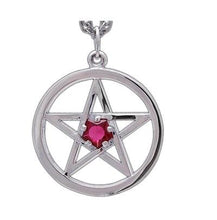 Load image into Gallery viewer, Harry Dresden's Pentacle Necklace with Ruby - Badali Jewelry - Necklace