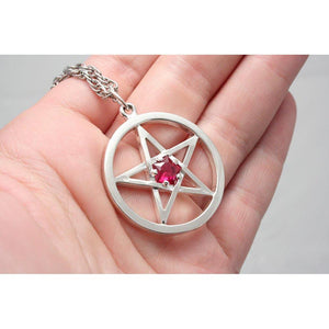 Harry Dresden's Pentacle Necklace with Ruby - Badali Jewelry - Necklace
