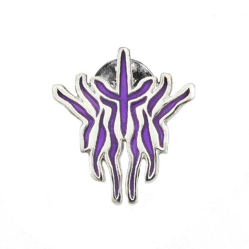 Kak Glyph Pin - Enameled Silver - Badali Jewelry - Pin