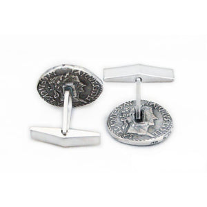 Lasciel's Blackened Denarius Cufflinks - Badali Jewelry - Cufflinks