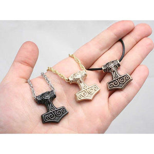 Leif Helgarson's Thor's Hammer - Bronze - Badali Jewelry - Necklace