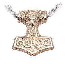 Load image into Gallery viewer, Leif Helgarson's Thor's Hammer - Bronze - Badali Jewelry - Necklace