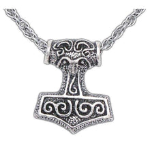 Load image into Gallery viewer, Leif Helgarson's Thor's Hammer - Silver - Badali Jewelry - Necklace